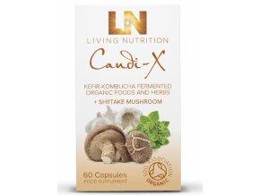 LIVING NUTRITION - CANDI-X - BIO Aktivní Bylinný Doplněk Stravy kvašený s houbou SHIITAKE [60 kapslí]