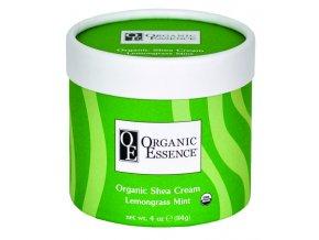 ORGANIC ESSENCE SHEA CREAM - Regenerační tělový balzám s vůní citronové trávy a máty