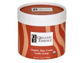 ORGANIC ESSENCE SHEA CREAM - Regenerační tělový balzám s vůní vanilky a sladkého pomeranče