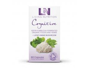 LIVING NUTRITION - COGNITIVE - BIO Aktivní Bylinný Doplněk Stravy kvašený s houbou HERICIUM [60 kapslí]