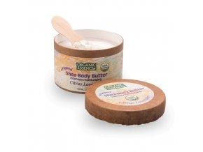 BIO Šlehané bambucké máslo Organic Essence s výtažky pomeranče a levandule