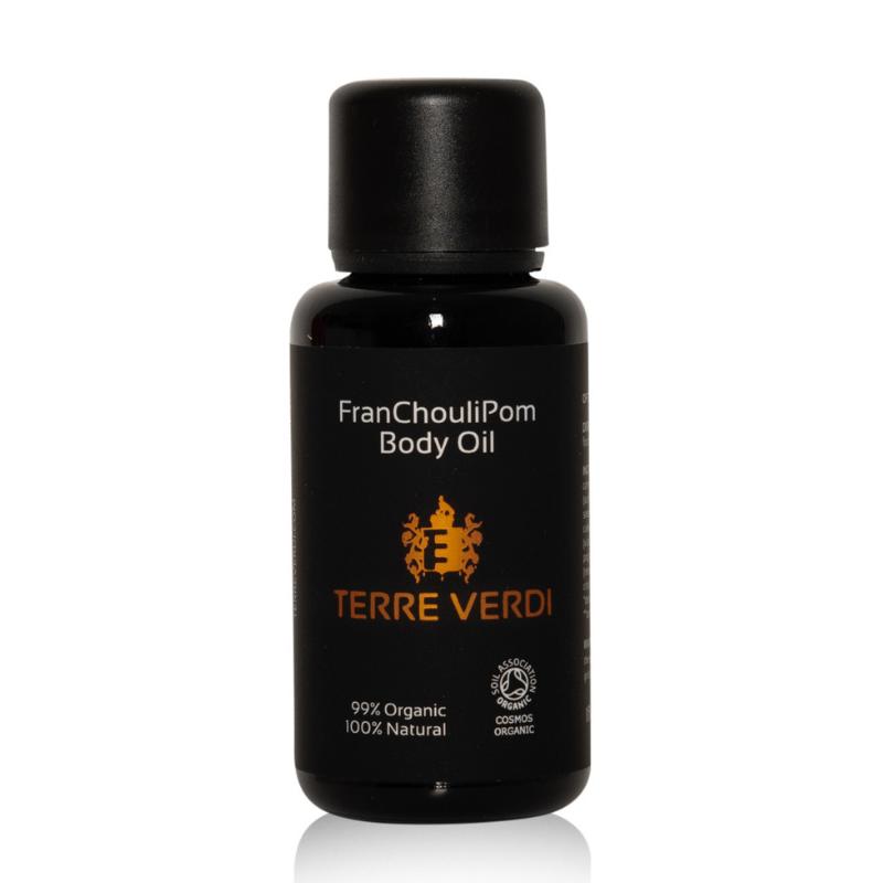 TERRE VERDI - Certifikovaný BIO Tělový olej pro suchou a namáhanou pokožku - FRANCHOULIPOM Objem: 30ml