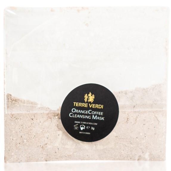 TERRE VERDI ORANGE COFFEE - Čistící pleťová maska pro normální, mastnou a kombinovanou pleť Objem: Vzorek