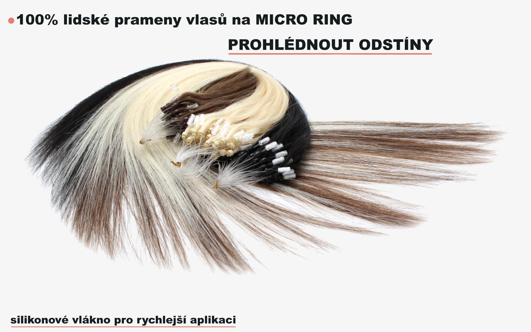 Micro Ring lidské vlasy remy
