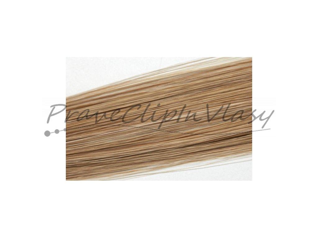 Clip in vlasy 50cm - Popelavá tmavá blond barva