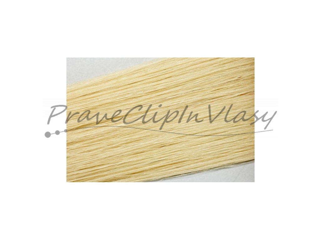 Clip in vlasy 50cm - Velmi světlá popelavá blond barva