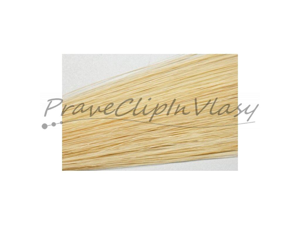 Clip in vlasy 50cm - Popelavá světlá blond barva