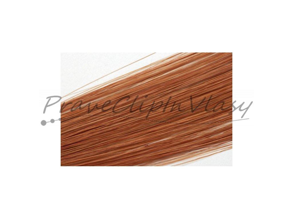 Clip in vlasy 50cm - Světlá měděná barva