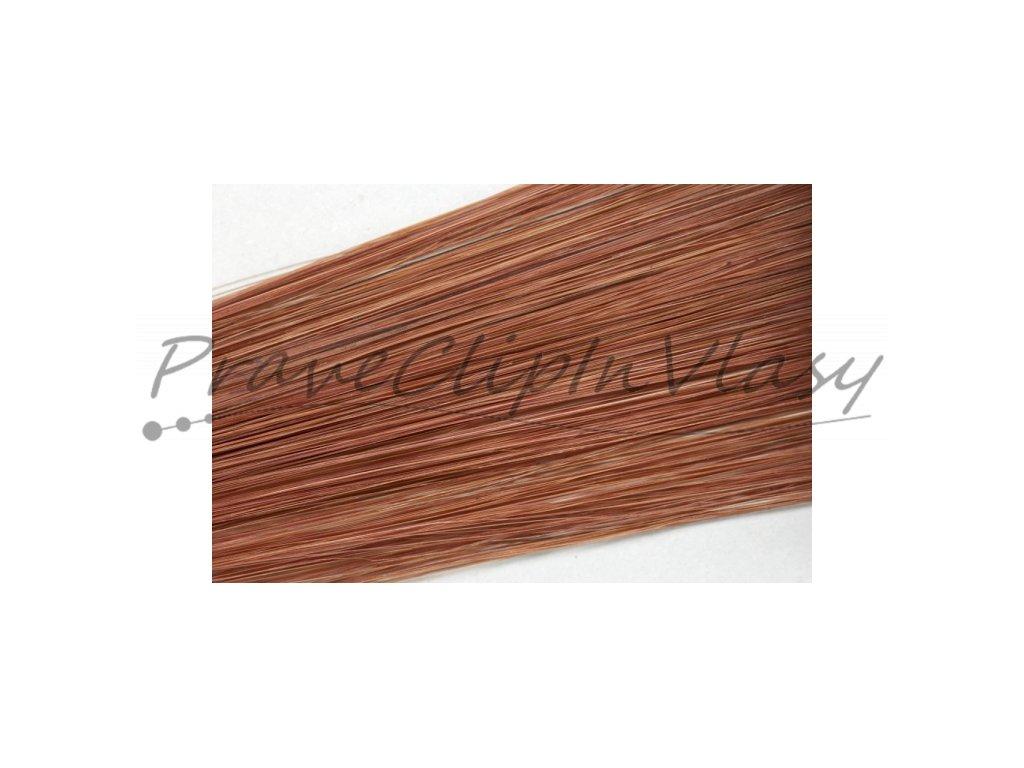 Clip in vlasy 50cm - Tmavší měděná barva