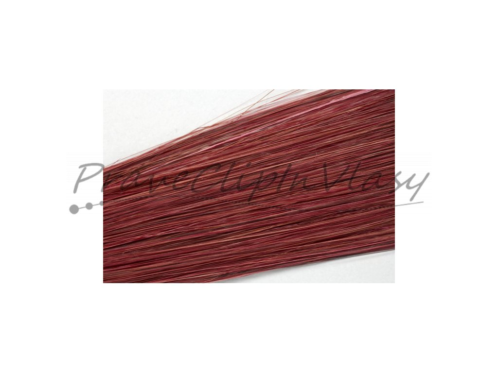Clip in vlasy 50cm - barvy intenzivní mahagon