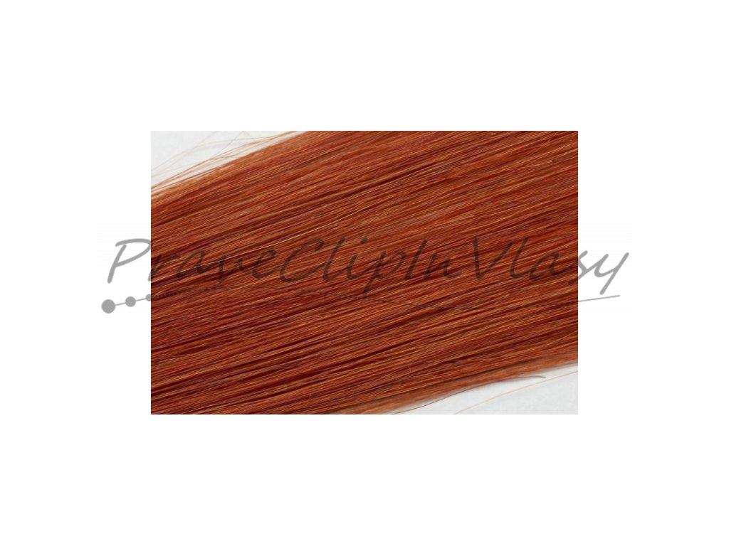 Clip in vlasy  50cm - Intezivní měděná barva
