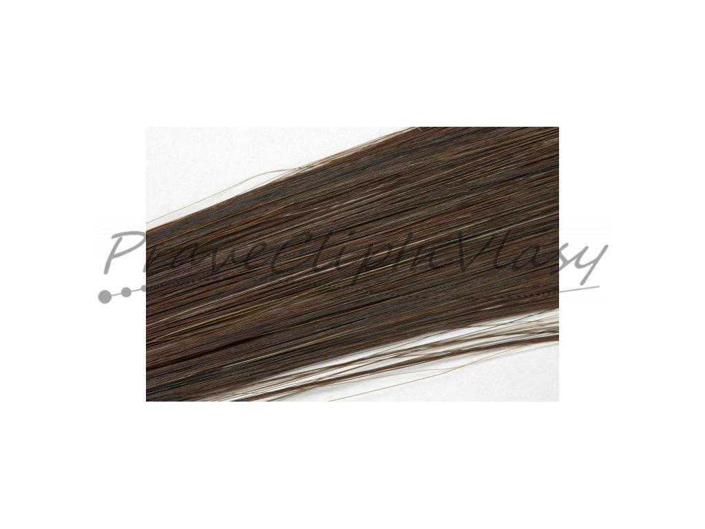 Clip in vlasy - Tmavší hnědá barva