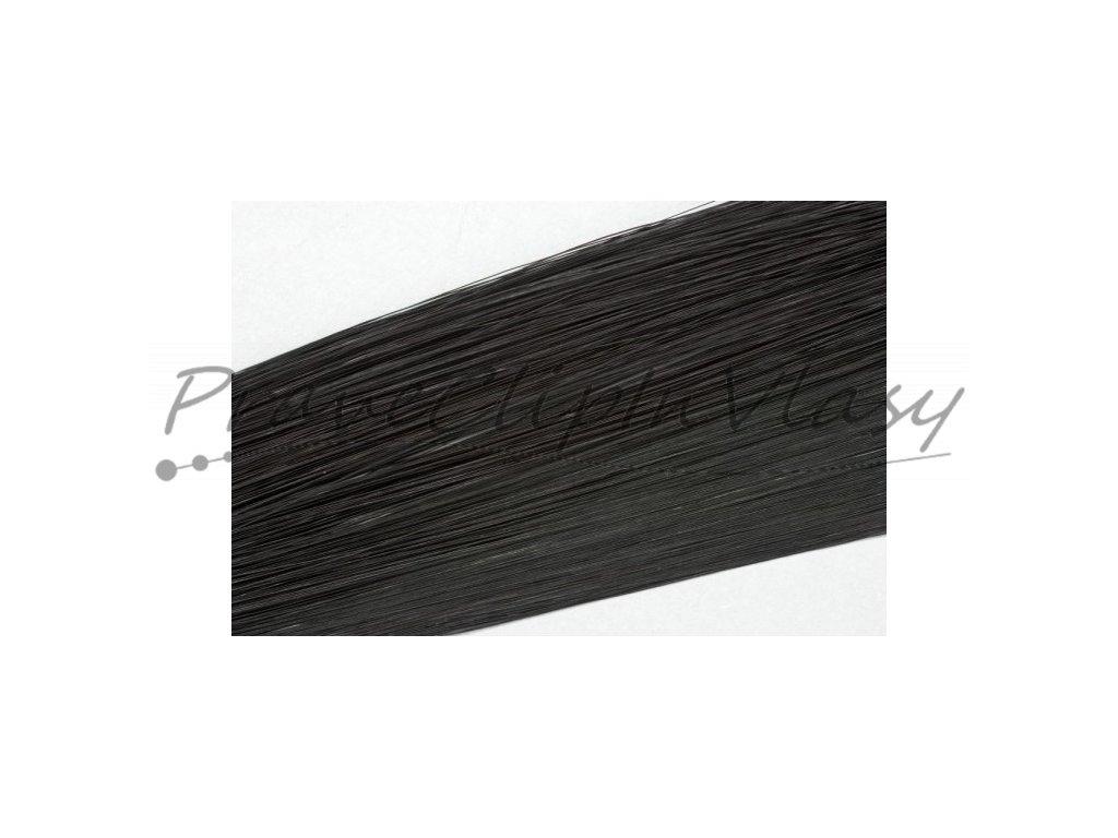 Clip in vlasy 30cm - Černá barva