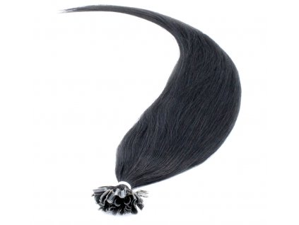Vlasy na keratinu 40cm - odstín černá