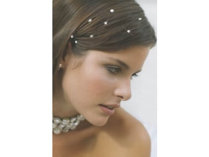 krystalky ve vlasech