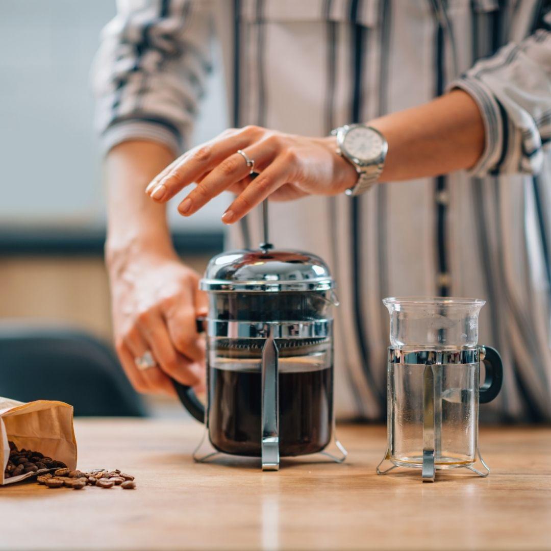 Příprava kávy doma - French press