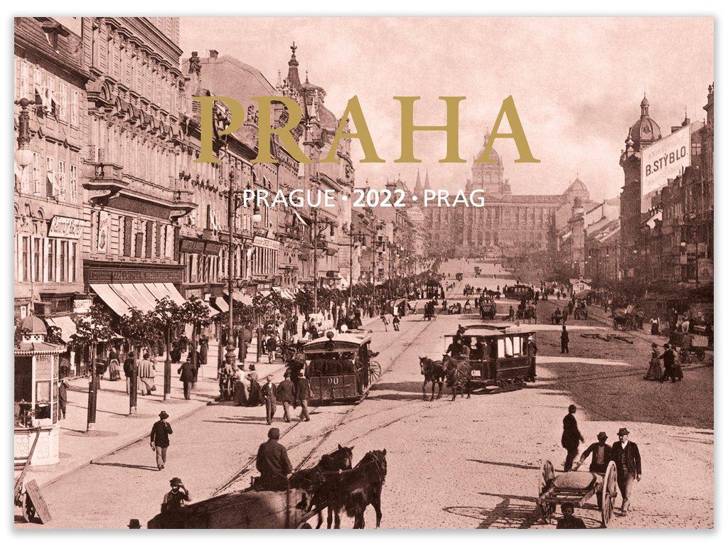 Nástěnný kalendář Praha - Prague - Prag 2022