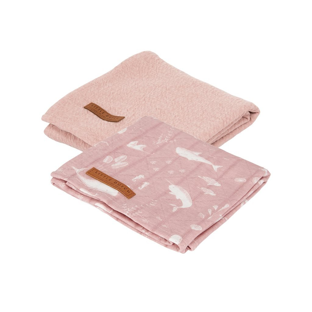 0007871 swaddle doek 70 x 70 ocean pink pure pink