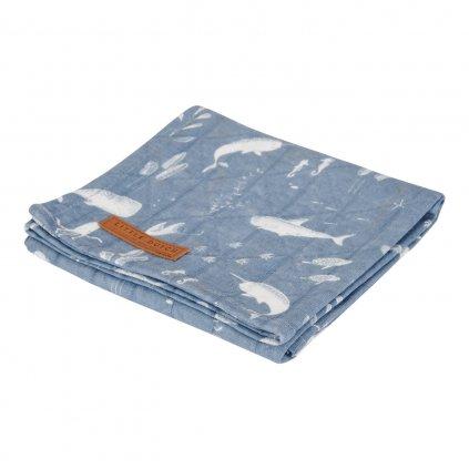 0003092 little dutch swaddle doek 120 x 120 ocean blue 0