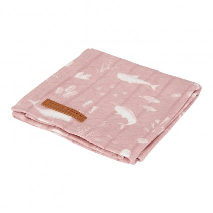 0003184 little dutch swaddle doek 120 x 120 ocean pink 0