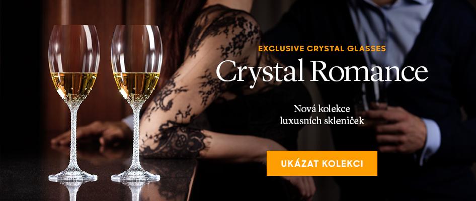 Nová kolekce luxusních skleniček Crystal Romance