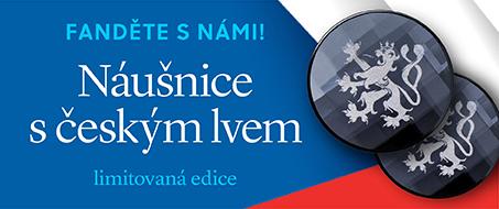 Náušnice s českým lvem - limitovaná edice