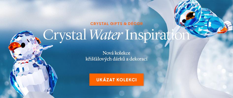 Nová kolekce křišťálových dárků a dekorací Crystal Water Inspiration