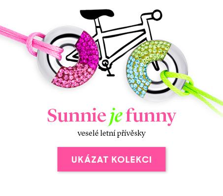 Veselé letní přívěsky Sunnie s českým křišťálem Preciosa