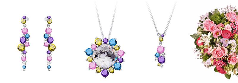 Kolekce stříbrných šperků Flower s českým křišťálem a kubickou zirkonií Preciosa