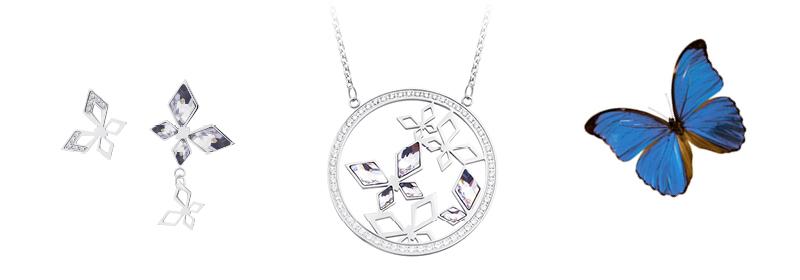 Kolekce šperků z chirurgické oceli Hallie s českým křišťálem Preciosa