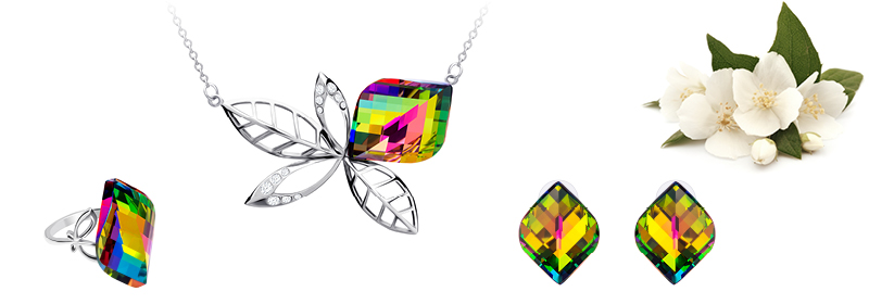 Kolekce šperků z chirurgické oceli Jasmin s českým křišťálem Preciosa