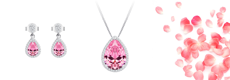 Kolekce stříbrných šperků Rose s kubickou zirkonií Preciosa