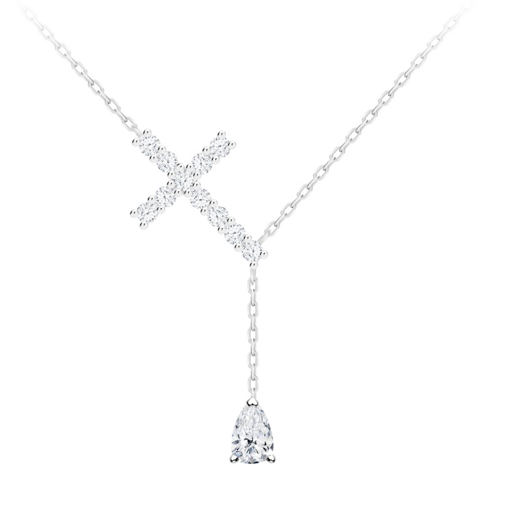 Stříbrný náhrdelník Shiny Cross