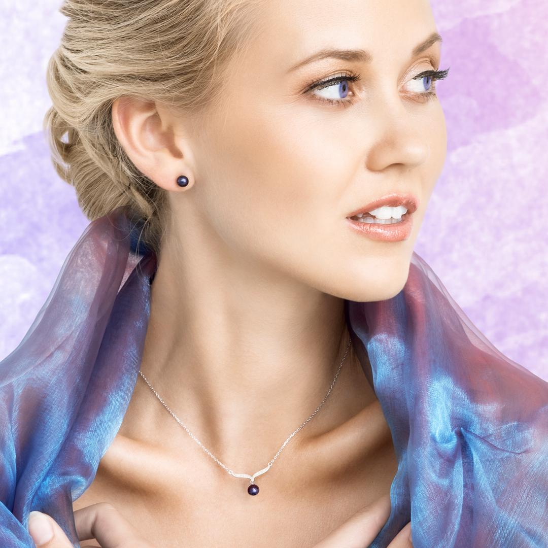 Náhrdelník Paolina s černou perlou