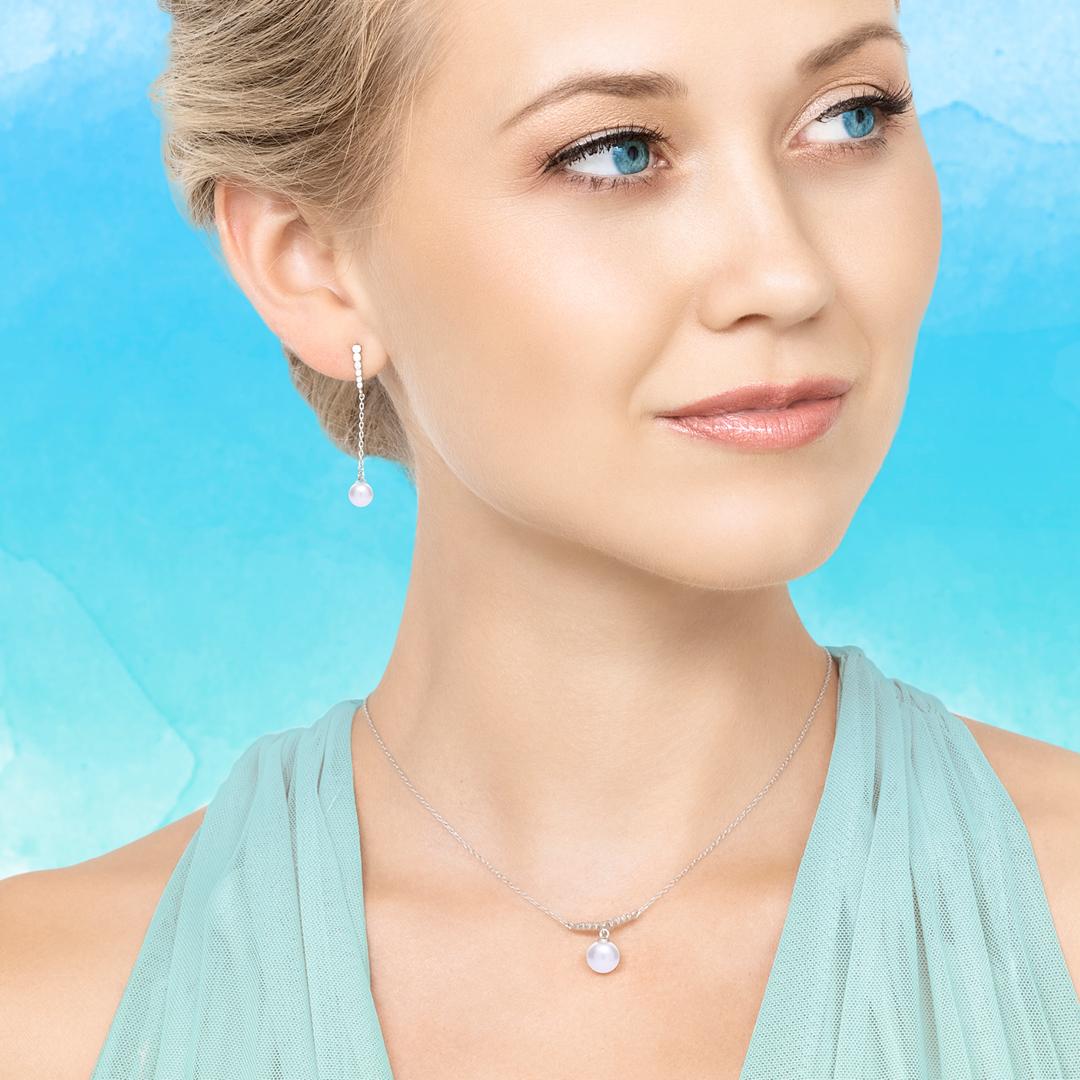Stříbrný náhrdelník Samoa s říční perlou
