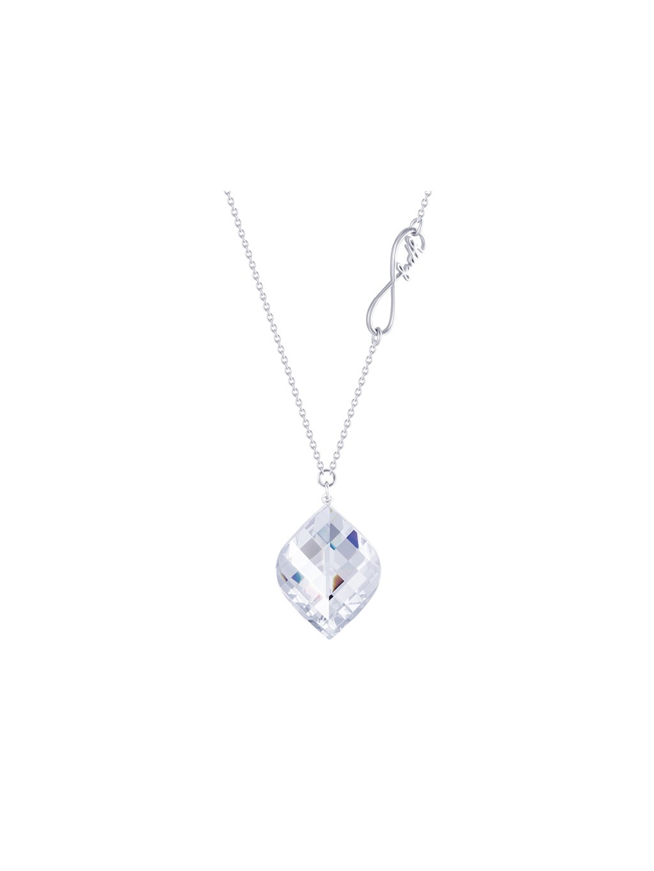 Stříbrný náhrdelník Faith s křišťálem Preciosa