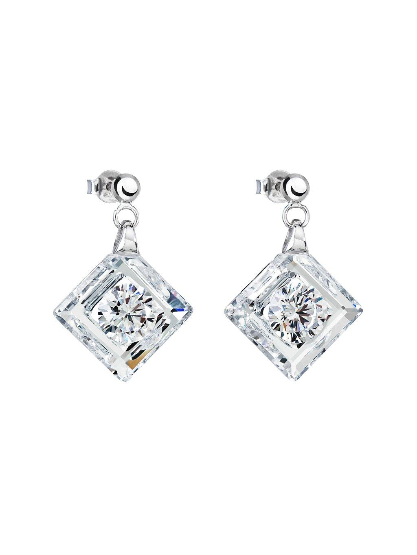 Stříbrné náušnice Precious s kubickou zirkonií Preciosa - krystal