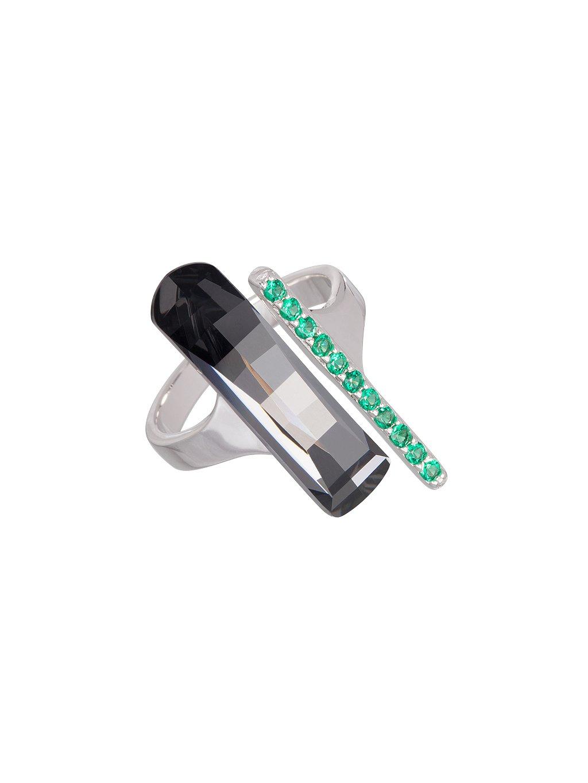 Stříbrný prsten Crystal Path s českým křišťálem Preciosa