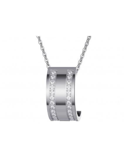 Přívěsek z chirurgické oceli Mia - stříbrný pokov