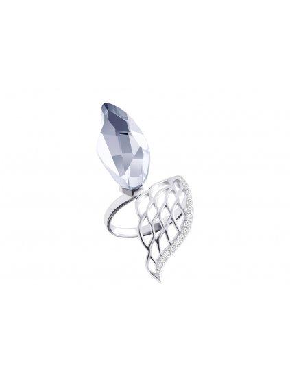 Stříbrný prsten Angel Wings s křišťálem Preciosa