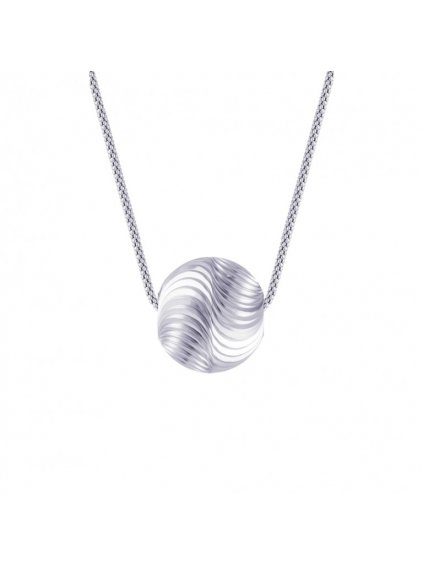 Stříbrná perle Preciosa na jemném stříbrném řetízku (jemná vlnka)
