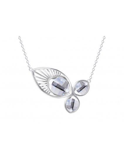 Stříbrný náhrdelník Orchid s českým křišťálem Preciosa