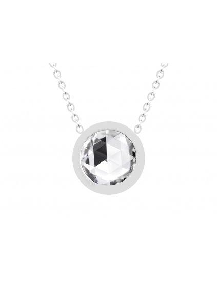 Náhrdelník Gemini z chirurgické oceli s českým křišťálem Preciosa, krystal