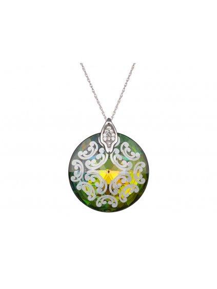 Stříbrný přívěsek Crystal Rose I, vitrail medium