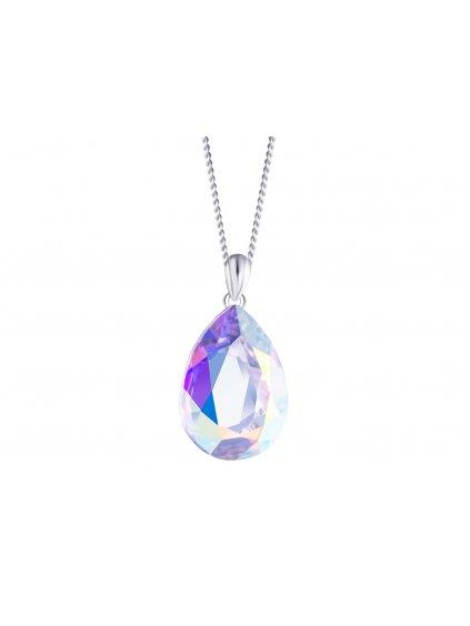 Stříbrný přívěsek Iris s křišťálem Preciosa, krystal AB