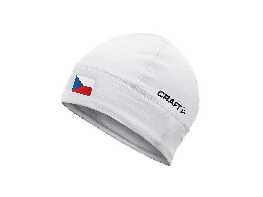 Čepice CRAFT Light Thermal Flag bílá L/XL
