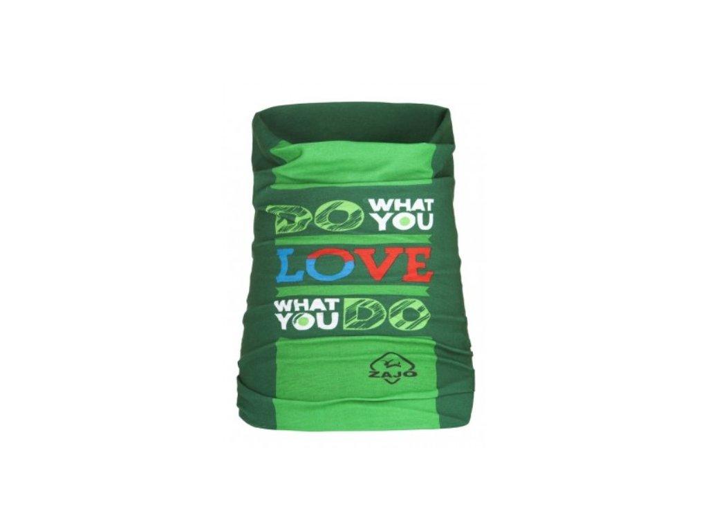 Zajo Unitube Catchword Moss - multifunkční šátek