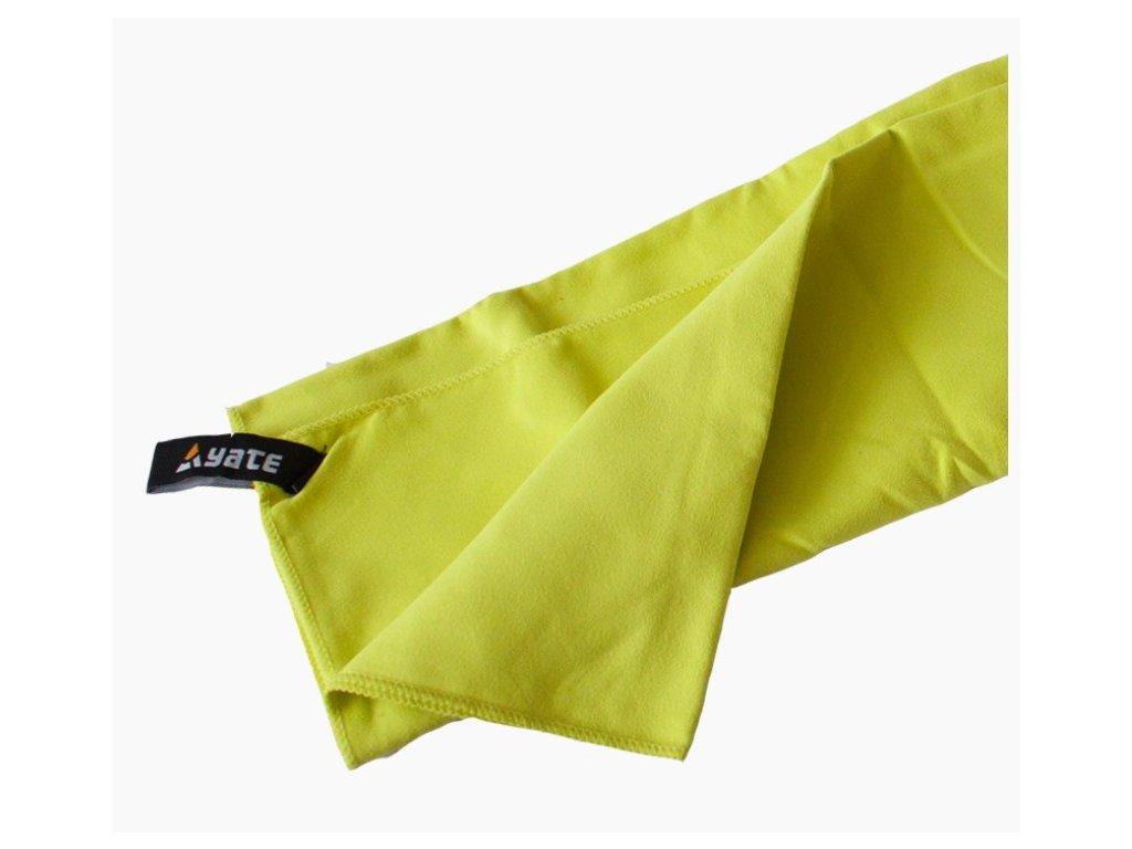 YATE Rychleschnoucí ručník vel. L 60x90 cm zelený
