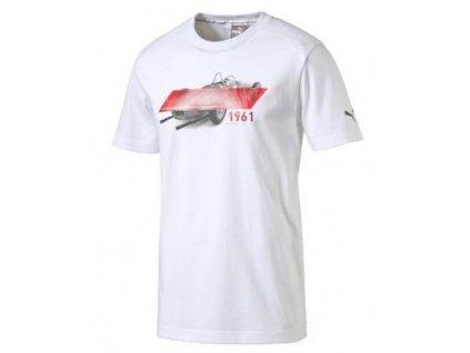 Pánské triko Puma Ferrari Graphic bílé, L