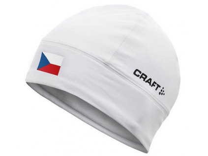 Čepice CRAFT Light Thermal Flag bílá L/XL